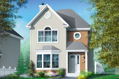 2 Bed, 1 Bath, 1302 Square Foot House Plan - #6146-00208
