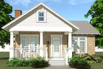 1 Bed, 1 Bath, 841 Square Foot House Plan - #028-00023
