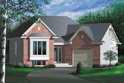 2 Bed, 1 Bath, 1046 Square Foot House Plan - #6146-00221