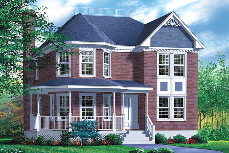 Victorian House Plan #6146-00228 Elevation Photo