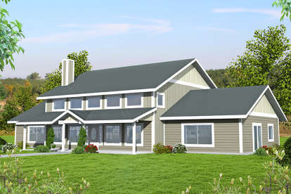 2 Bed, 3 Bath, 3620 Square Foot House Plan - #039-00634