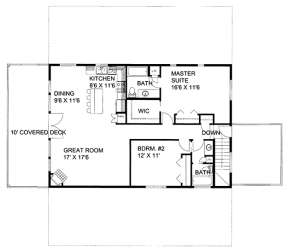 Upper for House Plan #039-00637