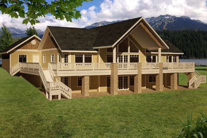 5 Bed, 3 Bath, 4006 Square Foot House Plan - #039-00644