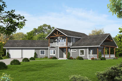 3 Bed, 2 Bath, 2208 Square Foot House Plan #039-00645
