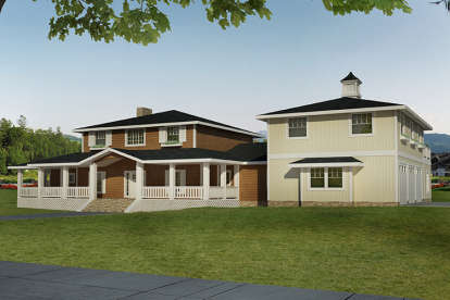4 Bed, 3 Bath, 3574 Square Foot House Plan - #039-00646
