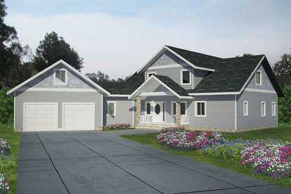 4 Bed, 2 Bath, 2768 Square Foot House Plan - #039-00657