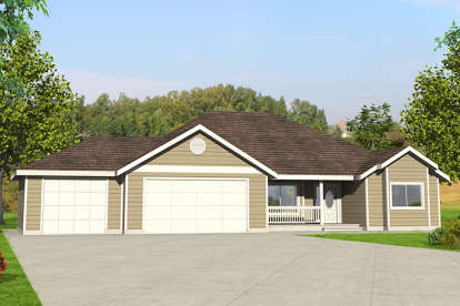 3 Bed, 2 Bath, 1804 Square Foot House Plan - #039-00681