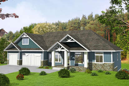 5 Bed, 4 Bath, 5545 Square Foot House Plan - #039-00682