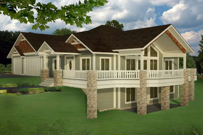 5 Bed, 3 Bath, 3744 Square Foot House Plan - #039-00685