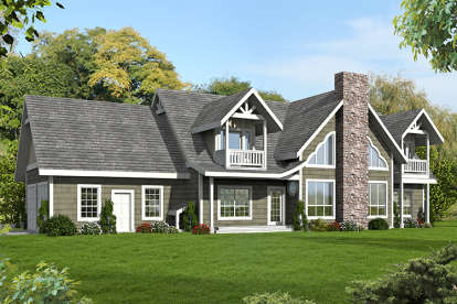 6 Bed, 4 Bath, 5039 Square Foot House Plan - #039-00689