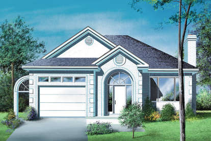 2 Bed, 1 Bath, 1255 Square Foot House Plan - #6146-00256
