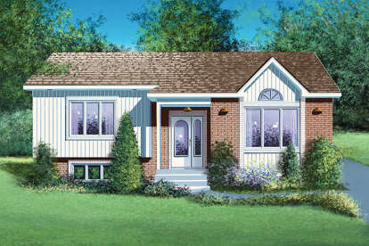 2 Bed, 1 Bath, 950 Square Foot House Plan - #6146-00257