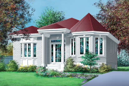 2 Bed, 1 Bath, 1004 Square Foot House Plan - #6146-00261