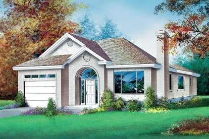 3 Bed, 1 Bath, 1452 Square Foot House Plan - #6146-00265