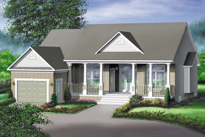2 Bed, 1 Bath, 1618 Square Foot House Plan - #6146-00269