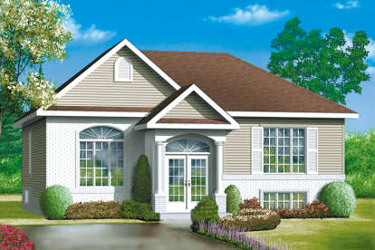 3 Bed, 1 Bath, 1312 Square Foot House Plan - #6146-00270