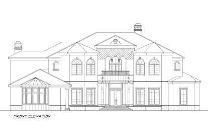 Mediterranean House Plan #5445-00253 Elevation Photo