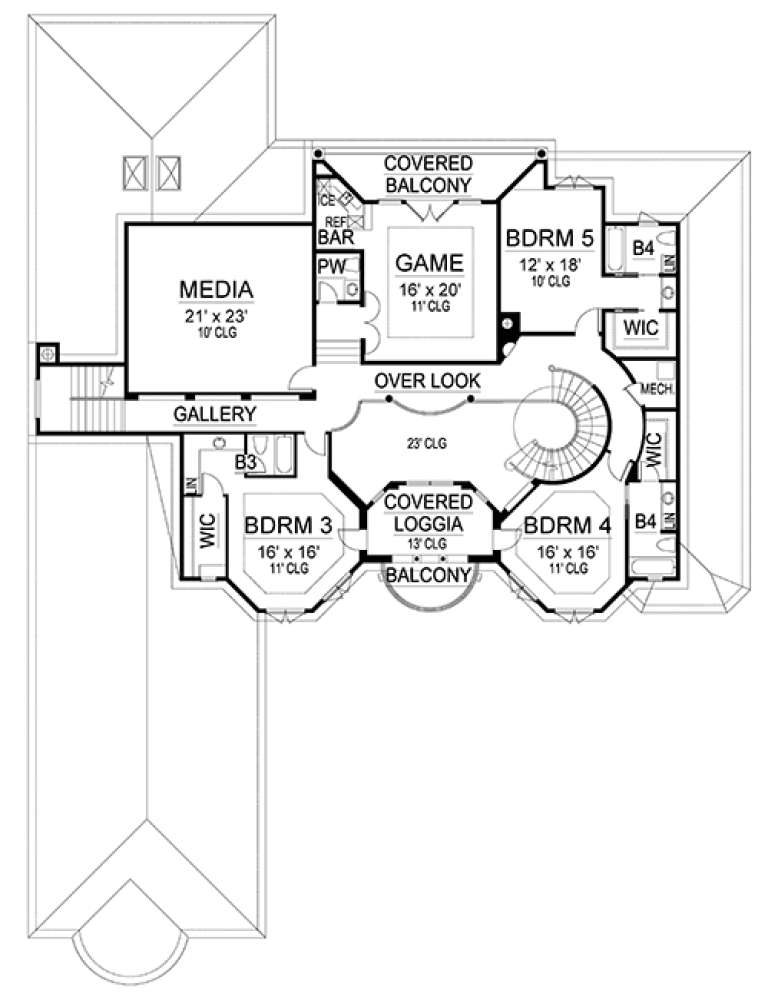 Upper for House Plan #5445-00253