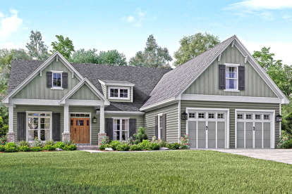 3 Bed, 2 Bath, 2004 Square Foot House Plan #041-00144