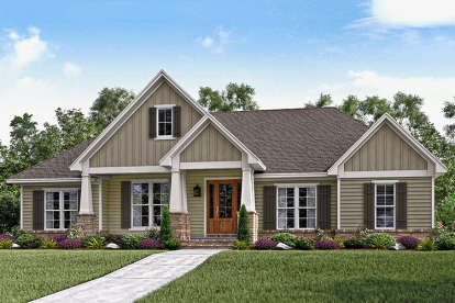 3 Bed, 2 Bath, 2151 Square Foot House Plan - #041-00145