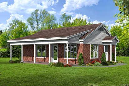 1 Bed, 1 Bath, 815 Square Foot House Plan - #940-00014