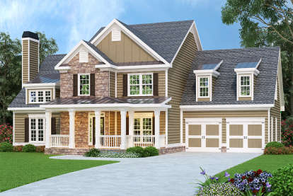 4 Bed, 2 Bath, 2798 Square Foot House Plan - #009-00002