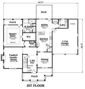 Main Floor for House Plan #009-00002