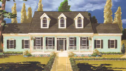 4 Bed, 2 Bath, 2210 Square Foot House Plan - #033-00019