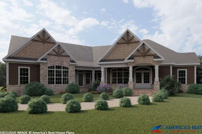 3 Bed, 2 Bath, 2818 Square Foot House Plan - #6082-00004