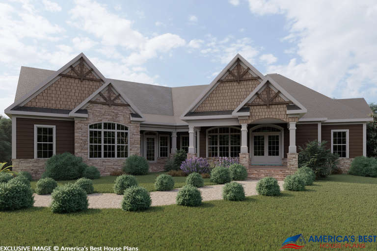 Craftsman House Plan #6082-00004 Elevation Photo