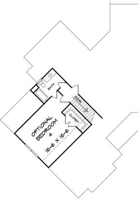 Upper for House Plan #6082-00004