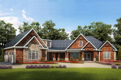 3 Bed, 3 Bath, 3060 Square Foot House Plan #6082-00005