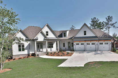 3 Bed, 3 Bath, 3061 Square Foot House Plan - #6082-00006