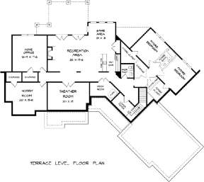 Basement for House Plan #6082-00006