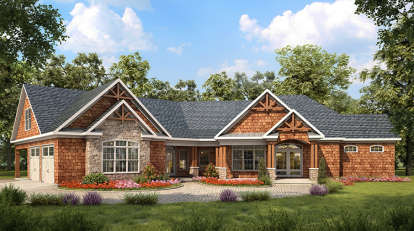 3 Bed, 2 Bath, 2650 Square Foot House Plan - #6082-00009