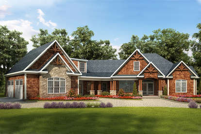 3 Bed, 4 Bath, 3033 Square Foot House Plan - #6082-00010