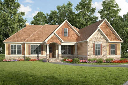 3 Bed, 2 Bath, 2746 Square Foot House Plan - #6082-00018
