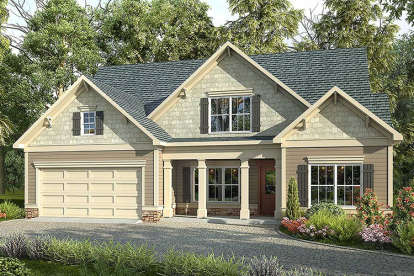 4 Bed, 3 Bath, 2367 Square Foot House Plan #6082-00025
