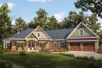 3 Bed, 2 Bath, 2780 Square Foot House Plan - #6082-00030