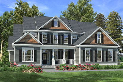 4 Bed, 3 Bath, 3558 Square Foot House Plan #6082-00031