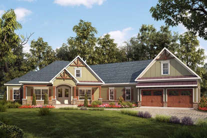 3 Bed, 3 Bath, 2925 Square Foot House Plan - #6082-00032