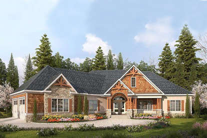 3 Bed, 4 Bath, 3337 Square Foot House Plan - #6082-00035