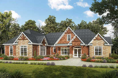 3 Bed, 2 Bath, 2896 Square Foot House Plan - #6082-00042
