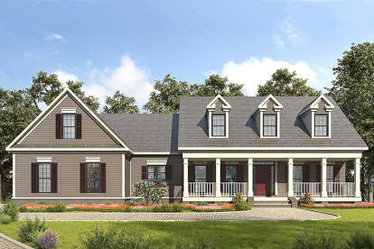3 Bed, 2 Bath, 2488 Square Foot House Plan #6082-00045