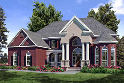 5 Bed, 4 Bath, 6608 Square Foot House Plan - #6082-00046