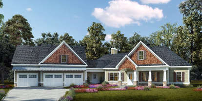 3 Bed, 2 Bath, 3092 Square Foot House Plan - #6082-00047