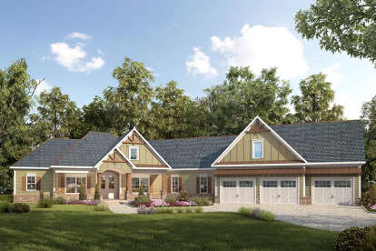 3 Bed, 3 Bath, 2971 Square Foot House Plan - #6082-00051