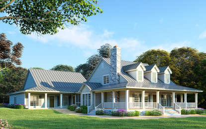 5 Bed, 4 Bath, 3437 Square Foot House Plan #8318-00028