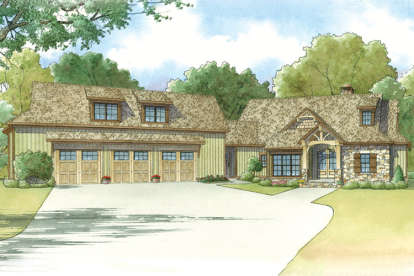 4 Bed, 4 Bath, 4548 Square Foot House Plan - #8318-00029