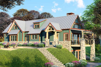 2 Bed, 3 Bath, 1921 Square Foot House Plan - #8318-00030